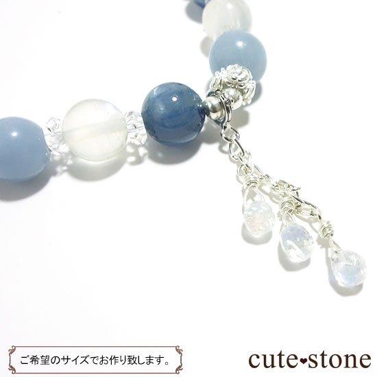 【Snow Angel】ブルームーンストーン カイヤナイト レインボームーンストーン エンジェライト 水晶のブレスレットの写真4 cute stone