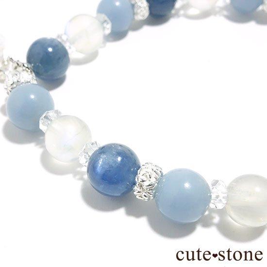 【Snow Angel】ブルームーンストーン カイヤナイト レインボームーンストーン エンジェライト 水晶のブレスレットの写真5 cute stone