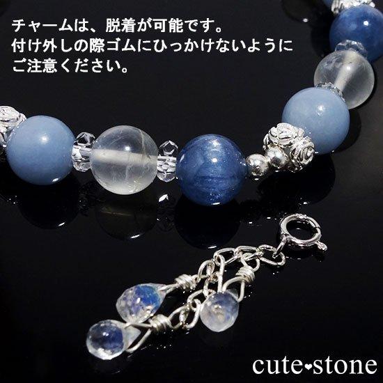 【Snow Angel】ブルームーンストーン カイヤナイト レインボームーンストーン エンジェライト 水晶のブレスレットの写真6 cute stone