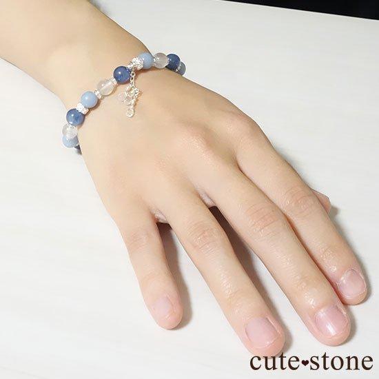 【Snow Angel】ブルームーンストーン カイヤナイト レインボームーンストーン エンジェライト 水晶のブレスレットの写真7 cute stone