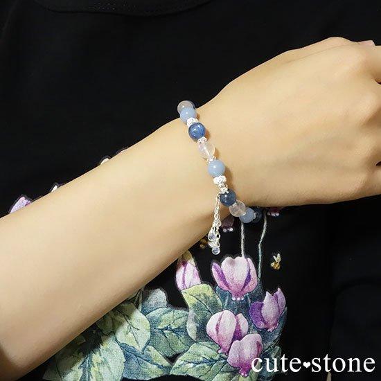 【Snow Angel】ブルームーンストーン カイヤナイト レインボームーンストーン エンジェライト 水晶のブレスレットの写真8 cute stone