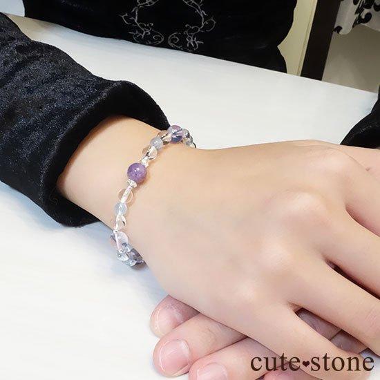 【山紫水明】スコロライト エンジェルシリカ アイスクリスタル ブルートパーズのブレスレットの写真6 cute stone