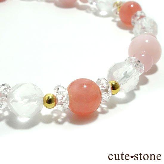 【Special Love】インカローズ ピンクオパール ミルキークォーツ グァバクォーツ 水晶のブレスレットの写真2 cute stone