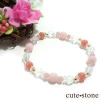 【Special Love】インカローズ ピンクオパール ミルキークォーツ グァバクォーツ 水晶のブレスレットの画像