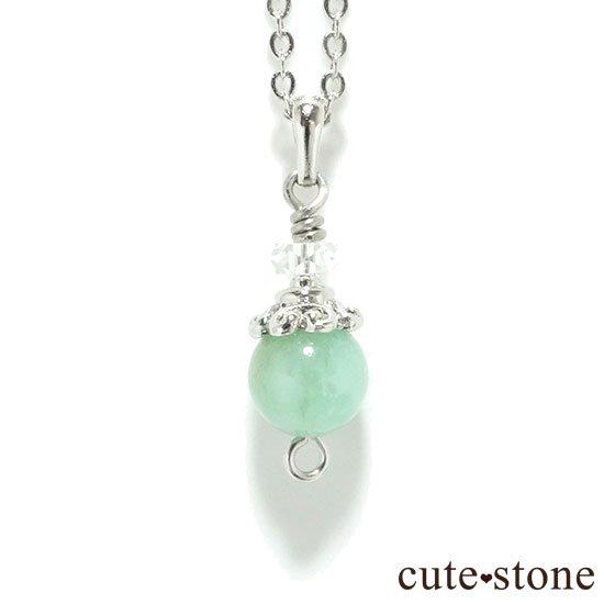 【Birthday Necklace 5月】 エメラルドと水晶で作った誕生石ネックレス