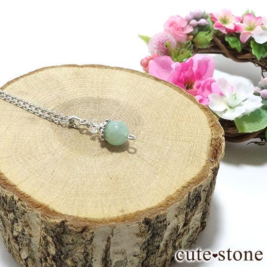 【Birthday Necklace 5月】 エメラルドと水晶で作った誕生石ネックレスの写真2 cute stone