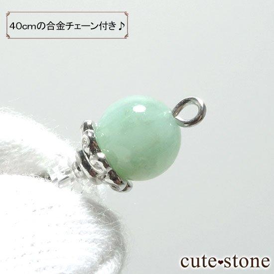 【Birthday Necklace 5月】 エメラルドと水晶で作った誕生石ネックレスの写真3 cute stone