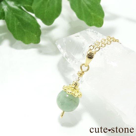 【Birthday Necklace 5月】 エメラルドと水晶で作った誕生石ネックレスの写真4 cute stone