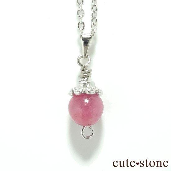【Birthday Necklace 7月】 ルビーと水晶で作った誕生石ネックレス