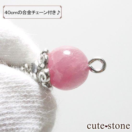 【Birthday Necklace 7月】 ルビーと水晶で作った誕生石ネックレスの写真3 cute stone