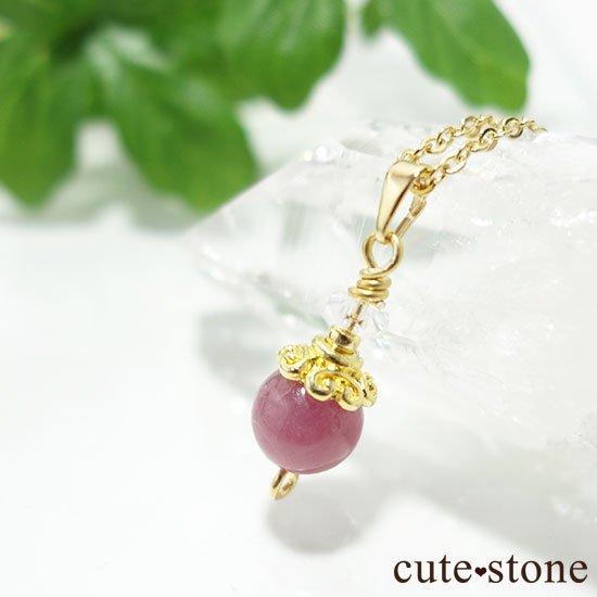 【Birthday Necklace 7月】 ルビーと水晶で作った誕生石ネックレスの写真4 cute stone