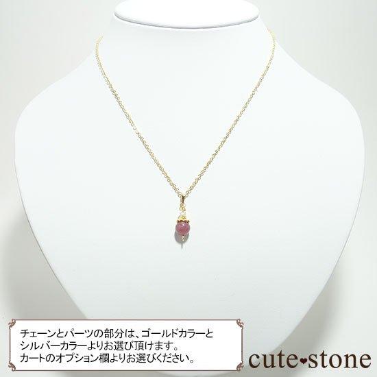 【Birthday Necklace 7月】 ルビーと水晶で作った誕生石ネックレスの写真5 cute stone