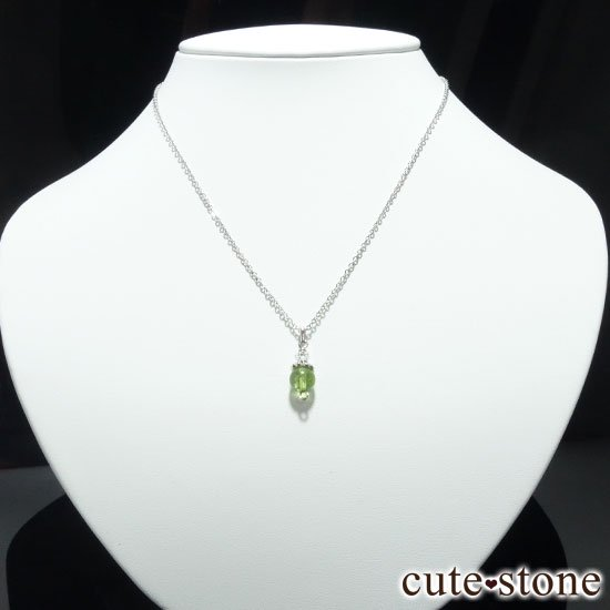 【Birthday Necklace 8月】 ペリドットと水晶で作った誕生石ネックレスの写真0 cute stone