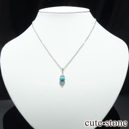 【Birthday Necklace 12月】 ターコイズ(トルコ石)と水晶で作った誕生石ネックレスの写真0 cute stone
