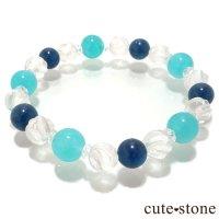 【Horizon】 アイスアマゾナイト ブルーアパタイト 水晶のブレスレットの画像