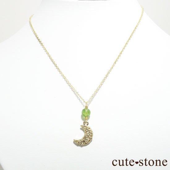 【Luna Magic】 ペリドットと三日月のネックレスの写真0 cute stone
