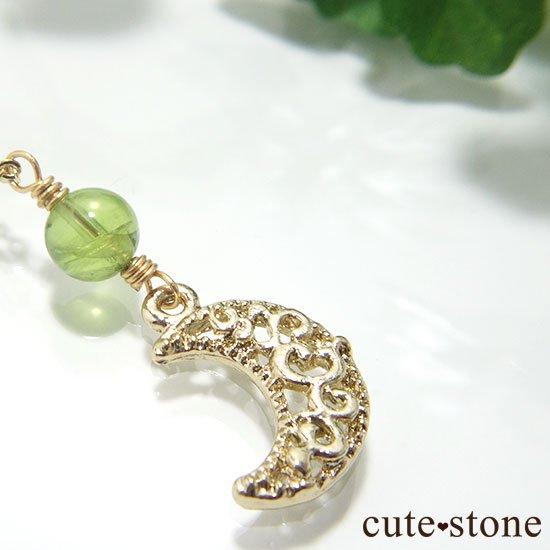 【Luna Magic】 ペリドットと三日月のネックレスの写真2 cute stone