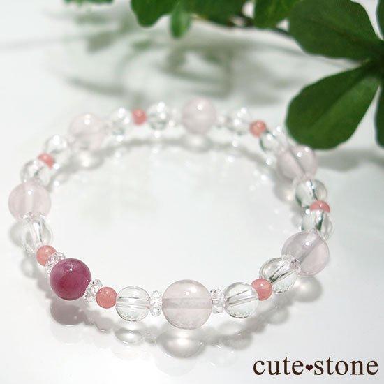 【春の訪れ】ルビー インカローズ スターローズクォーツ のブレスレットの写真5 cute stone