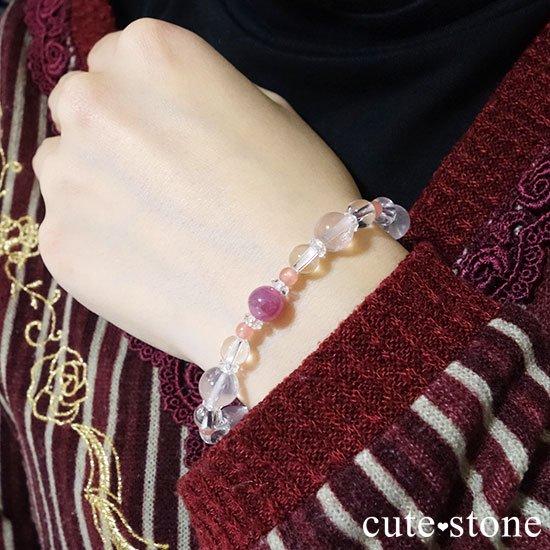 【春の訪れ】ルビー インカローズ スターローズクォーツ のブレスレットの写真6 cute stone