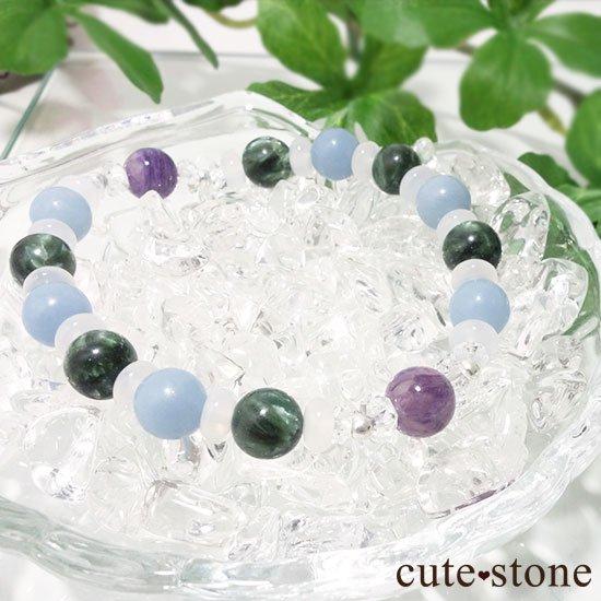 【エンジェルサークル】エンジェルシリカ セラフィナイト エンジェライト のブレスレットの写真2 cute stone