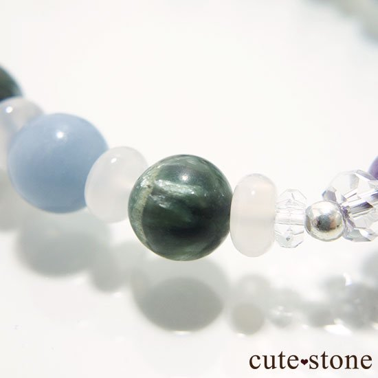 【エンジェルサークル】エンジェルシリカ セラフィナイト エンジェライト のブレスレットの写真3 cute stone