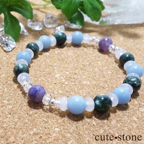 【エンジェルサークル】エンジェルシリカ セラフィナイト エンジェライト のブレスレットの写真5 cute stone