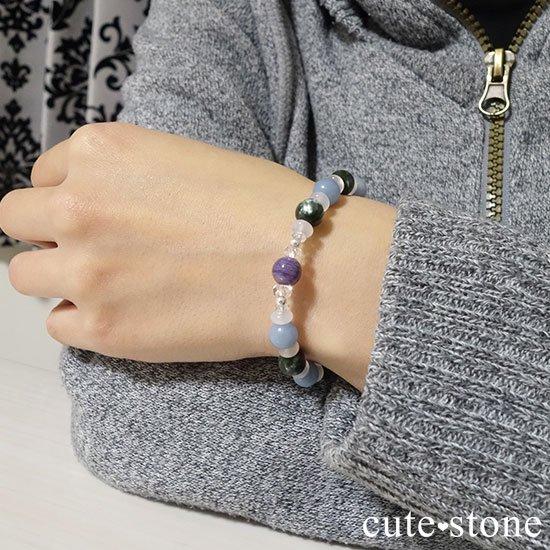 【エンジェルサークル】エンジェルシリカ セラフィナイト エンジェライト のブレスレットの写真6 cute stone