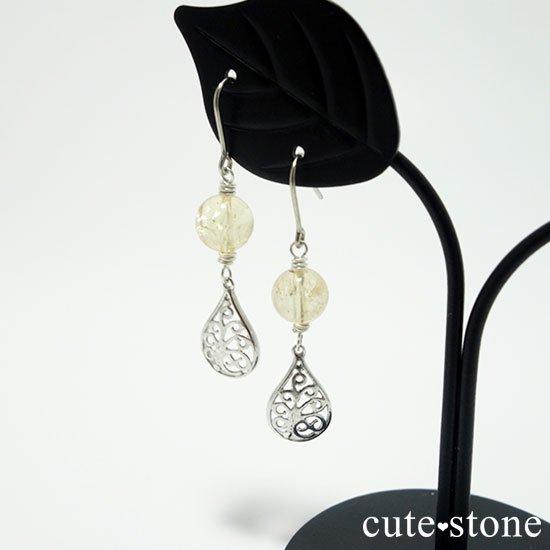 【高貴な雫】インペリアルトパーズのピアス(イヤリング)の写真3 cute stone