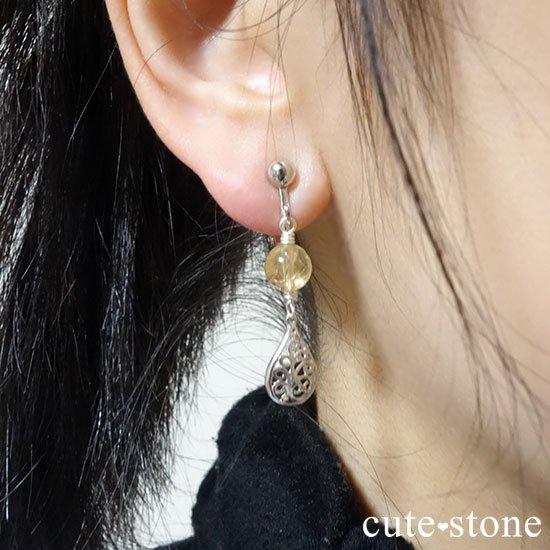 【高貴な雫】インペリアルトパーズのピアス(イヤリング)の写真4 cute stone