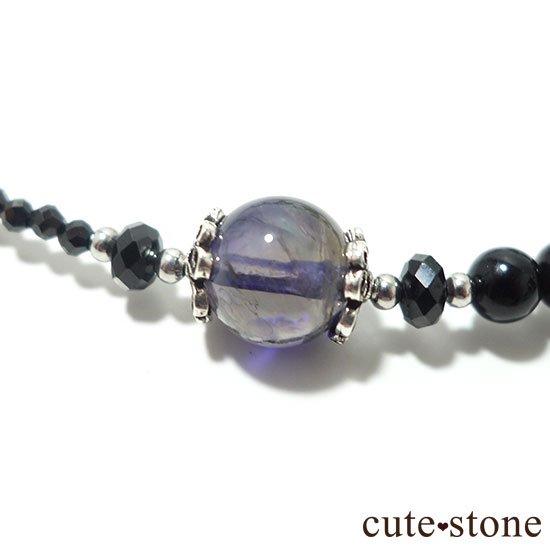 【Gothic Princess】アイオライト ブラックスピネル モリオンのネックレスの写真0 cute stone