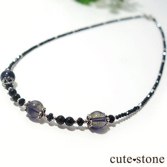 【Gothic Princess】アイオライト ブラックスピネル モリオンのネックレスの写真1 cute stone