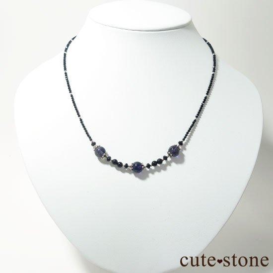 【Gothic Princess】アイオライト ブラックスピネル モリオンのネックレスの写真3 cute stone
