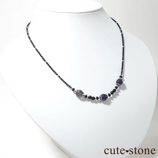 【Gothic Princess】アイオライト ブラックスピネル モリオンのネックレスの写真4 cute stone