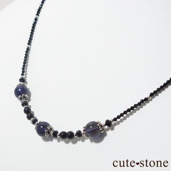 【Gothic Princess】アイオライト ブラックスピネル モリオンのネックレスの写真5 cute stone