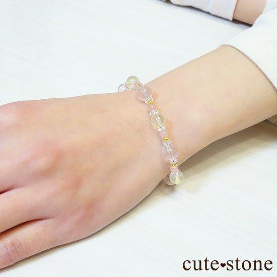 【春爛漫】プレナイト ローズクォーツ グァバクォーツ 水晶のブレスレットの写真6 cute stone