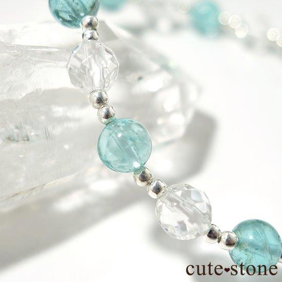 【水の紋章】タンザナイト アパタイト 水晶のブレスレットの写真2 cute stone