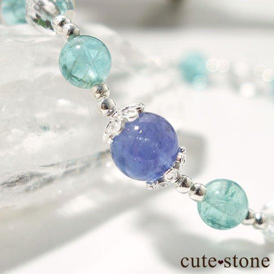 【水の紋章】タンザナイト アパタイト 水晶のブレスレットの写真3 cute stone