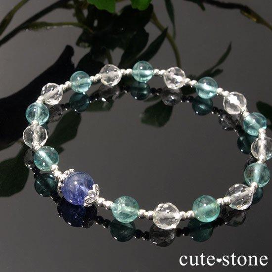 【水の紋章】タンザナイト アパタイト 水晶のブレスレットの写真4 cute stone