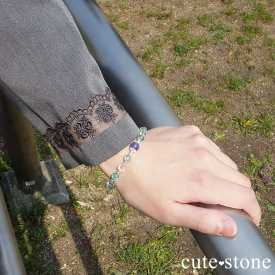 【水の紋章】タンザナイト アパタイト 水晶のブレスレットの写真6 cute stone