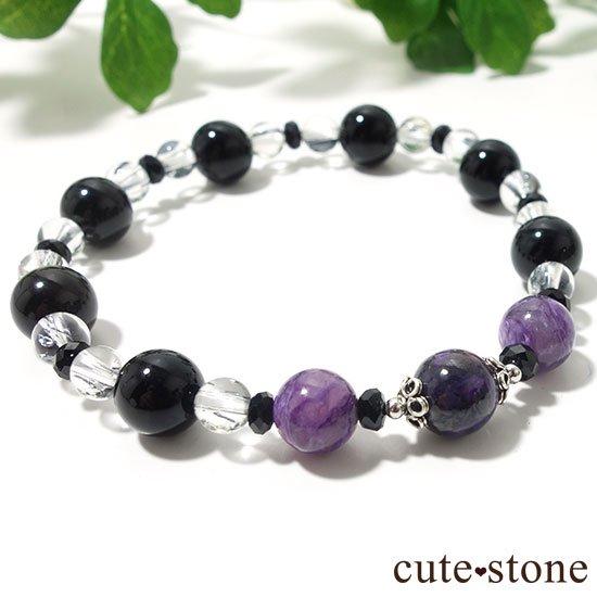 【Purple illusion】スギライト チャロアイト モリオン スティブナイトインクォーツのブレスレットの写真5 cute stone