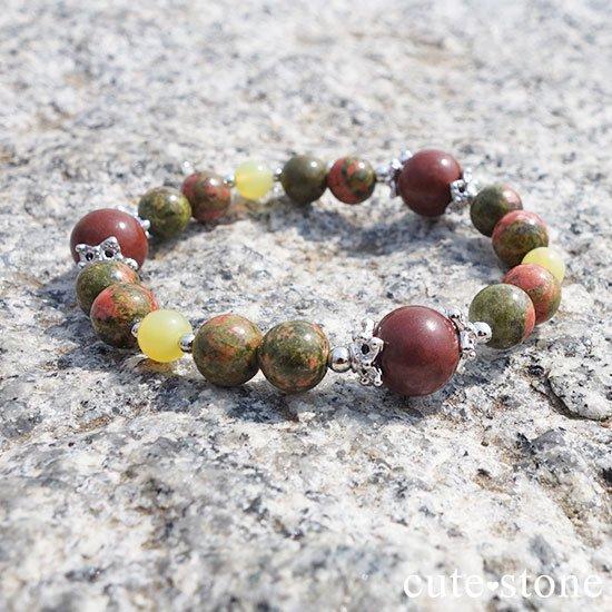 【EARTH COLOR】セドナストーン イエローオパール ユナカイトのブレスレットの写真0 cute stone