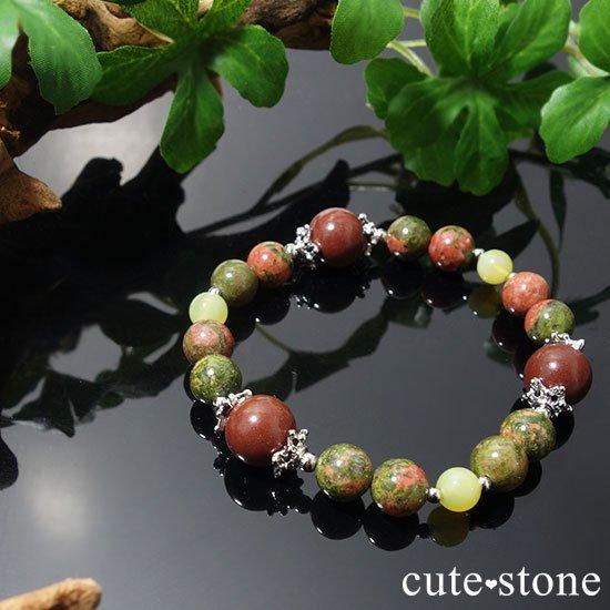 【EARTH COLOR】セドナストーン イエローオパール ユナカイトのブレスレットの写真1 cute stone