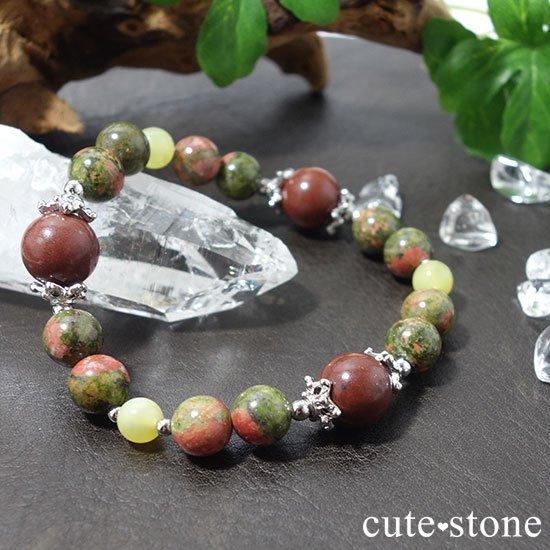 【EARTH COLOR】セドナストーン イエローオパール ユナカイトのブレスレットの写真2 cute stone