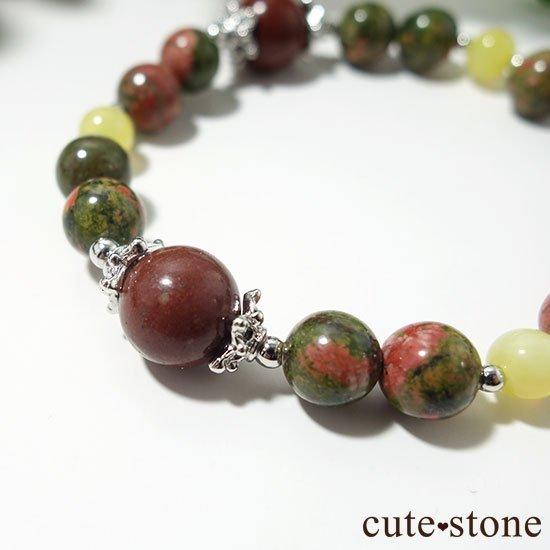【EARTH COLOR】セドナストーン イエローオパール ユナカイトのブレスレットの写真3 cute stone