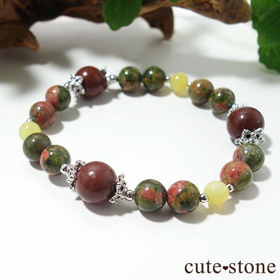 【EARTH COLOR】セドナストーン イエローオパール ユナカイトのブレスレットの写真4 cute stone