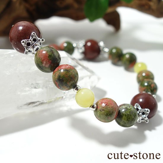【EARTH COLOR】セドナストーン イエローオパール ユナカイトのブレスレットの写真5 cute stone