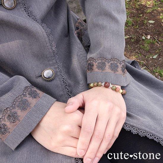 【EARTH COLOR】セドナストーン イエローオパール ユナカイトのブレスレットの写真6 cute stone
