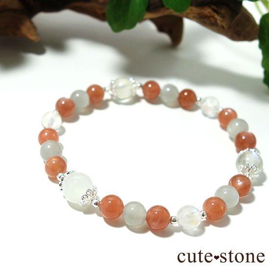 【月光の導き】いろいろなムーンストーンを使ったブレスレットの写真2 cute stone