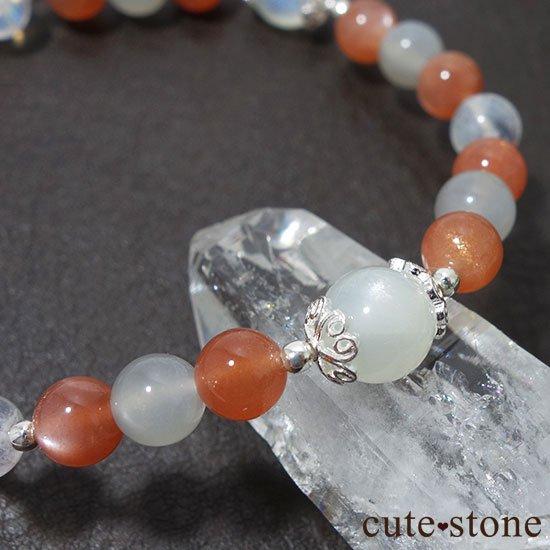 【月光の導き】いろいろなムーンストーンを使ったブレスレットの写真3 cute stone