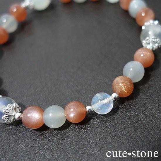 【月光の導き】いろいろなムーンストーンを使ったブレスレットの写真4 cute stone